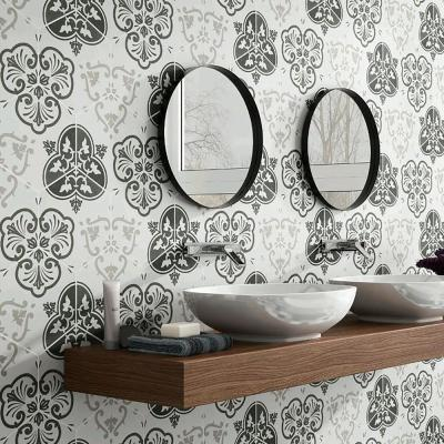 Fantasy Hex Mix Encaustic 8-5/8 in. x 9-7/8 in. Porcelain Floor and Wall Tile (11.56 sq. ft. / case)