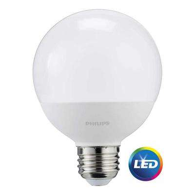 60W Equivalent Daylight Frosted G25 Globe LED Energy Star Light Bulb (3-Pack)