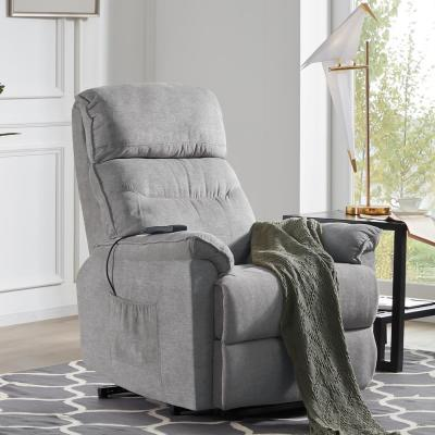 Gray Power Lift Recliner Chair with Remote