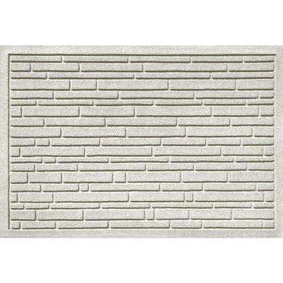 Aqua Shield Broken Brick White 17.5 in. x 26.5 in. Door Mat