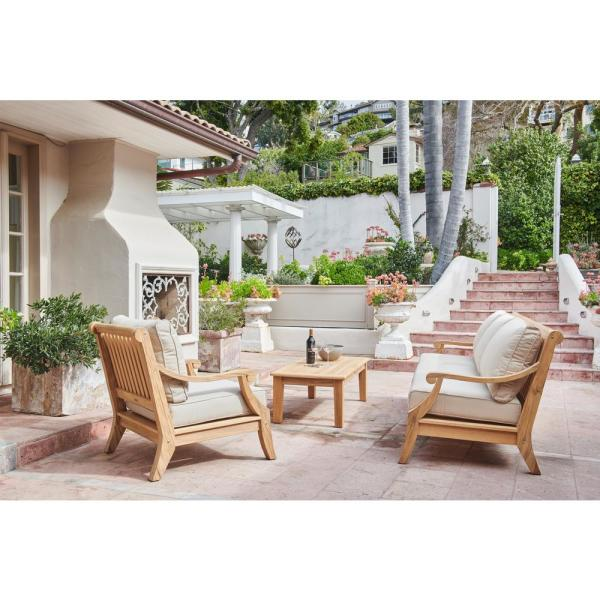 Sonoma Deep Seating Teak Outdoor Couch