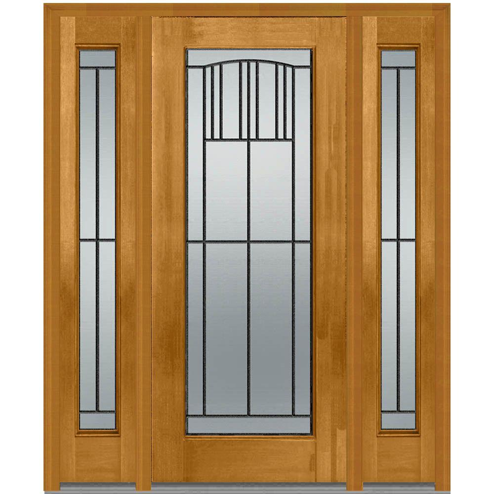 Farmhouse front doors exterior doors the home depot 36 in x 80 in madison left hand full lite classic stained rubansaba