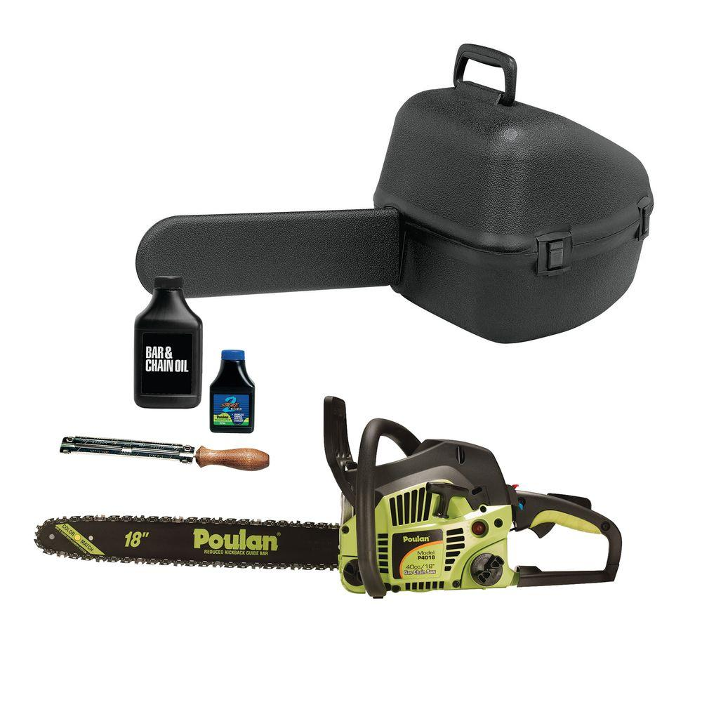 Poulan 18 in. 40 cc Gas Chainsaw Value Pack
