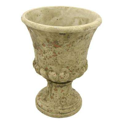 11.25 in. Large Gray Footed Urn