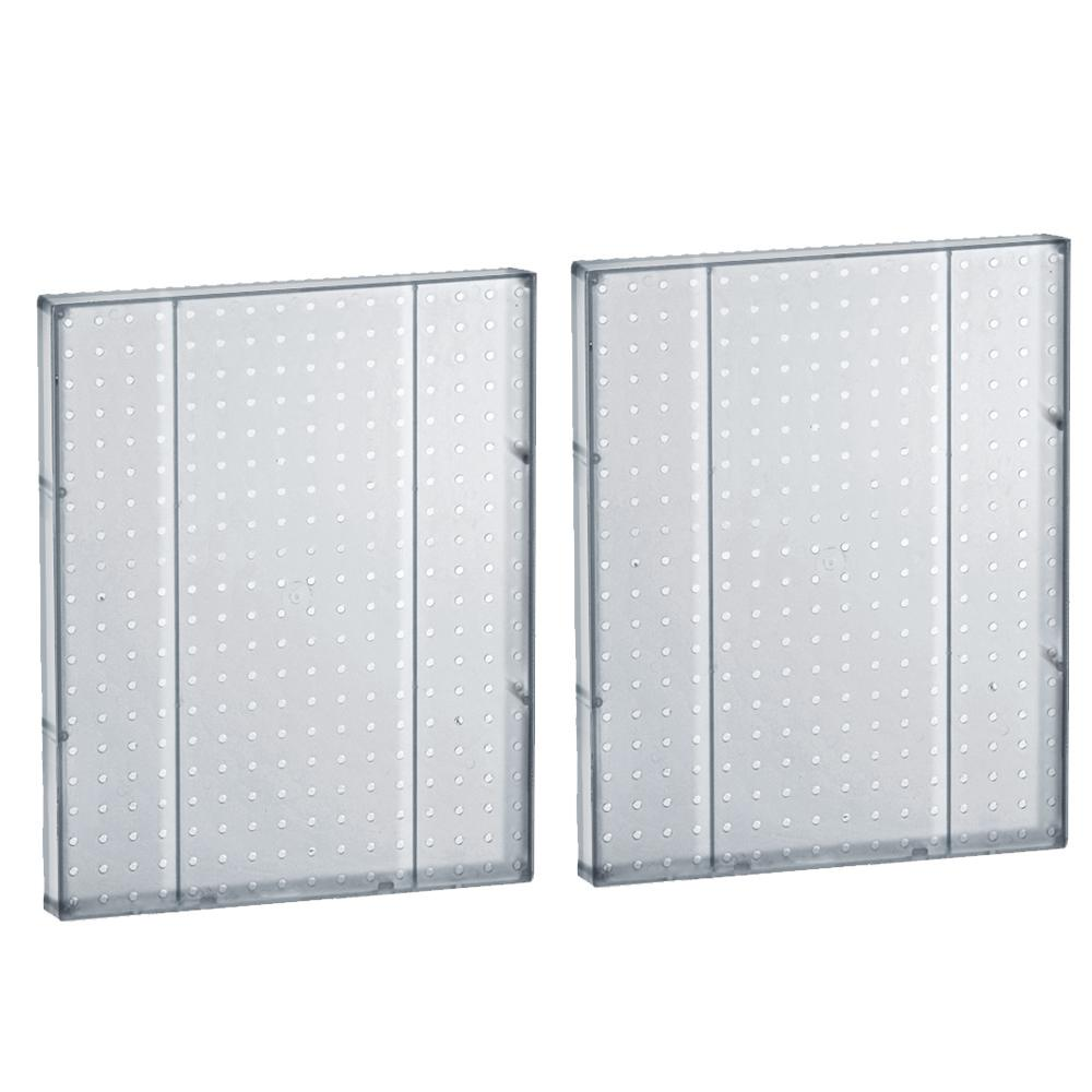 60 in. H x 16 in. W Pegboard Styrene Clear (2-Pieces