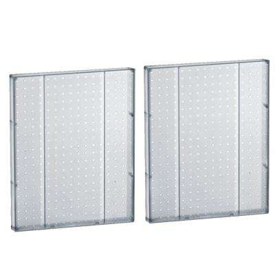 60 in. H x 16 in. W Pegboard Styrene Clear (2-Pieces per Box)