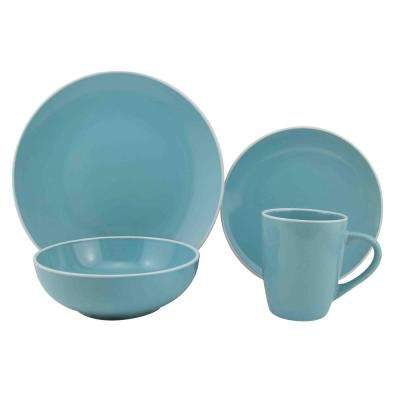 Riviera 16-Piece Blue Dinnerware Set