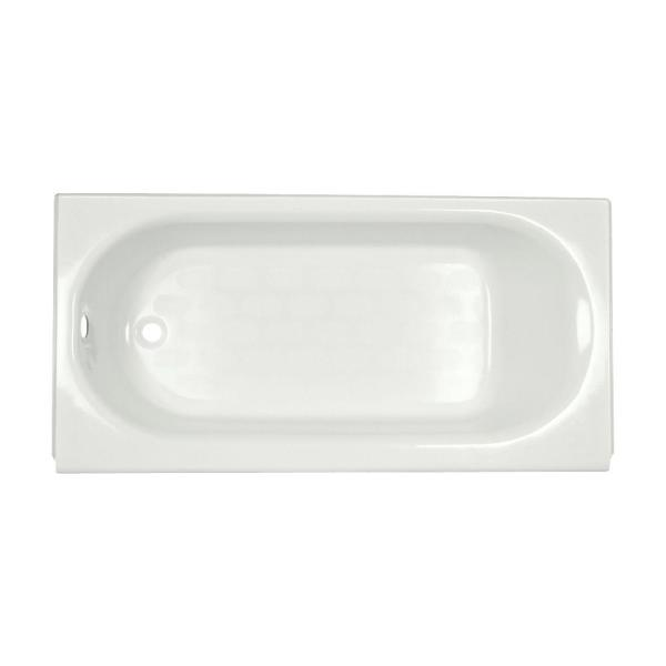 Princeton Luxury Ledge 5 ft. Americast Left-Hand Drain Drop-in Rectangular Bathtub in White