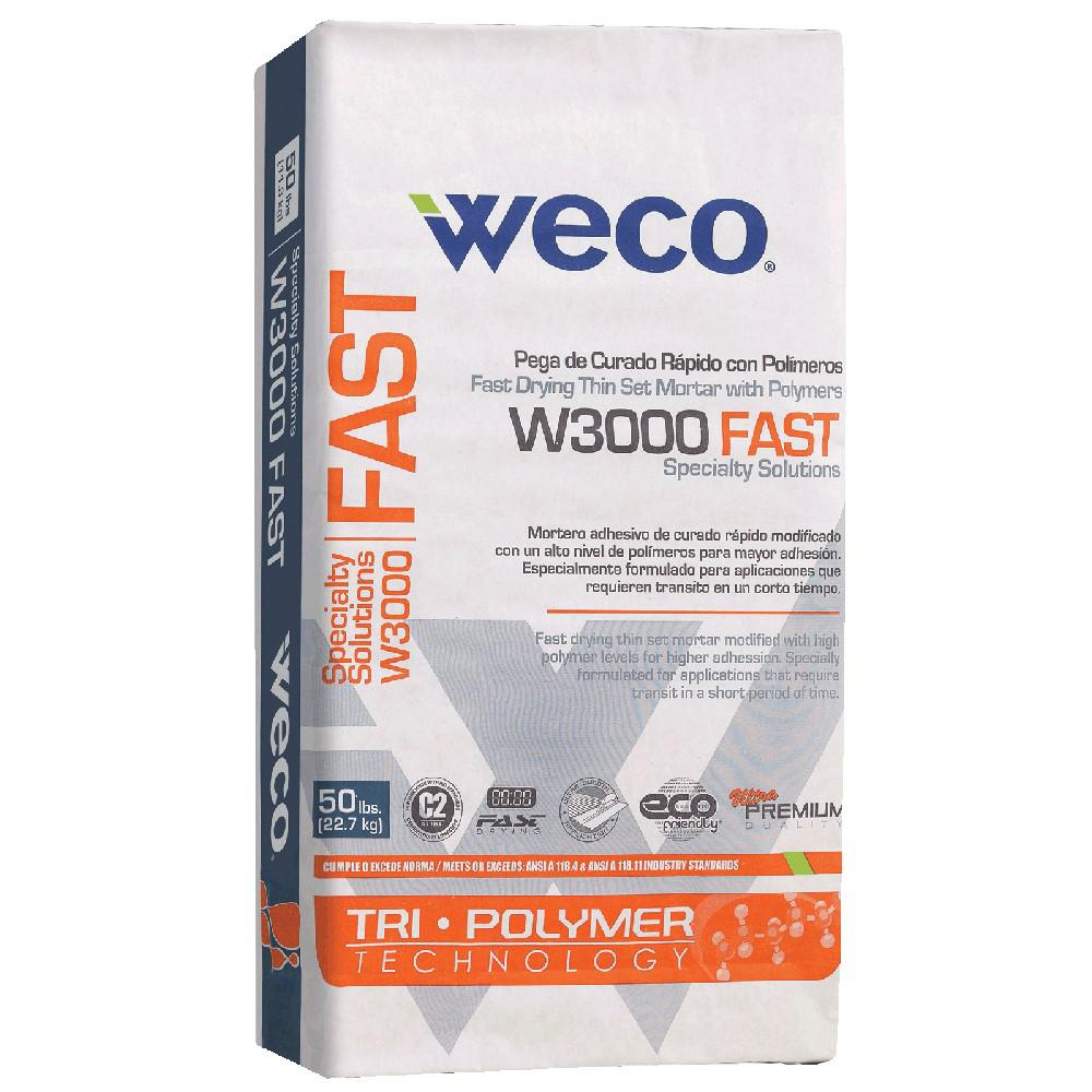 Weco W 3000 Fast 50 Lbs White Fast Drying Thin Set Mortar With Polymer We0810801 The Home Depot