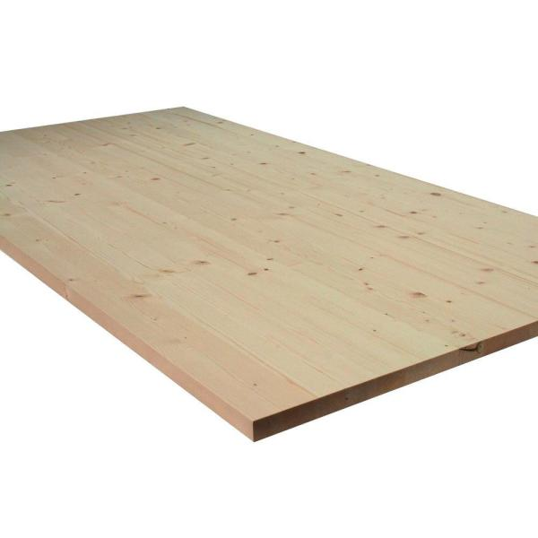 1 in. x 36 in. x 72 in. Allwood Pine Project Panel Table Island Top with Routed Edges on One Face