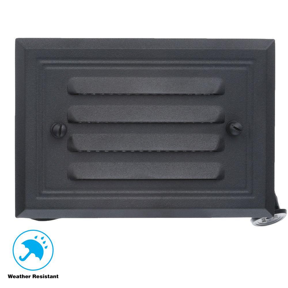 Home Depot Deck Lighting: Hampton Bay Low Voltage 7-Watt Black Halogen Half Brick
