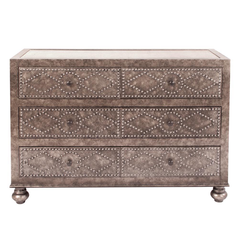 6-Drawer Gray Dresser