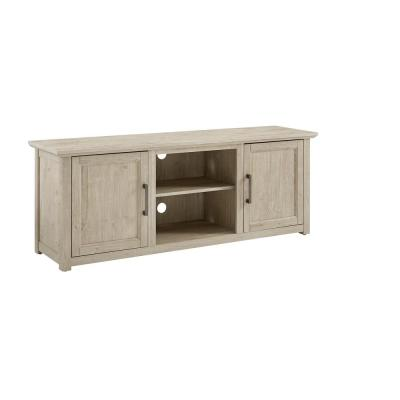 Camden 58 in. Frosted Oak Wood Low Profile Tv Stand Fits 60 in. TV with Cable Management