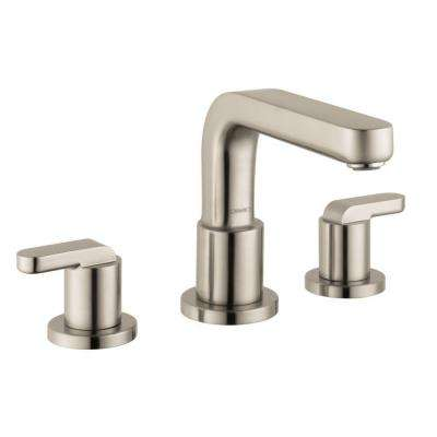 Metris S Lever 2-Handle Deck-Mount Roman Tub Faucet in Brushed Nickel