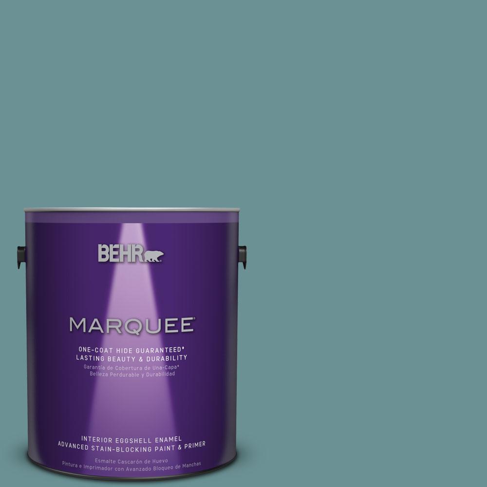 1 gal. #T15-16 Blue Clay Eggshell Enamel Interior Paint