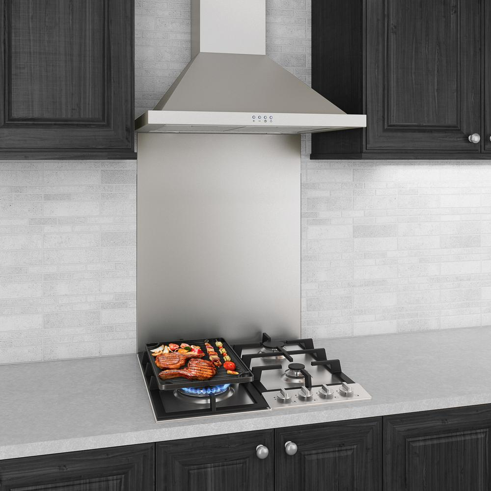 - Ancona 24 In. X 30 In. Stainless Steel Backsplash In Stainless