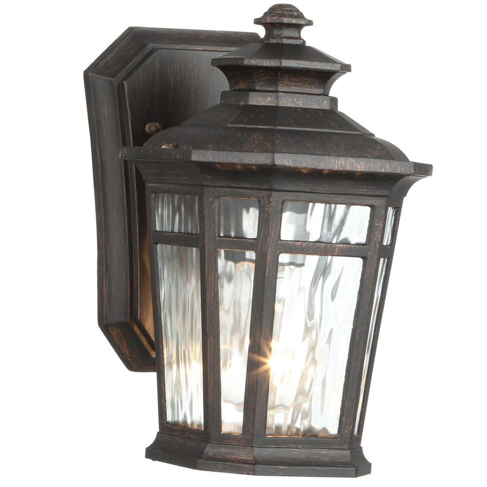 Home Decorators Collection Waterton 1 Light Dark Ridge Bronze Outdoor Wall  Lantern