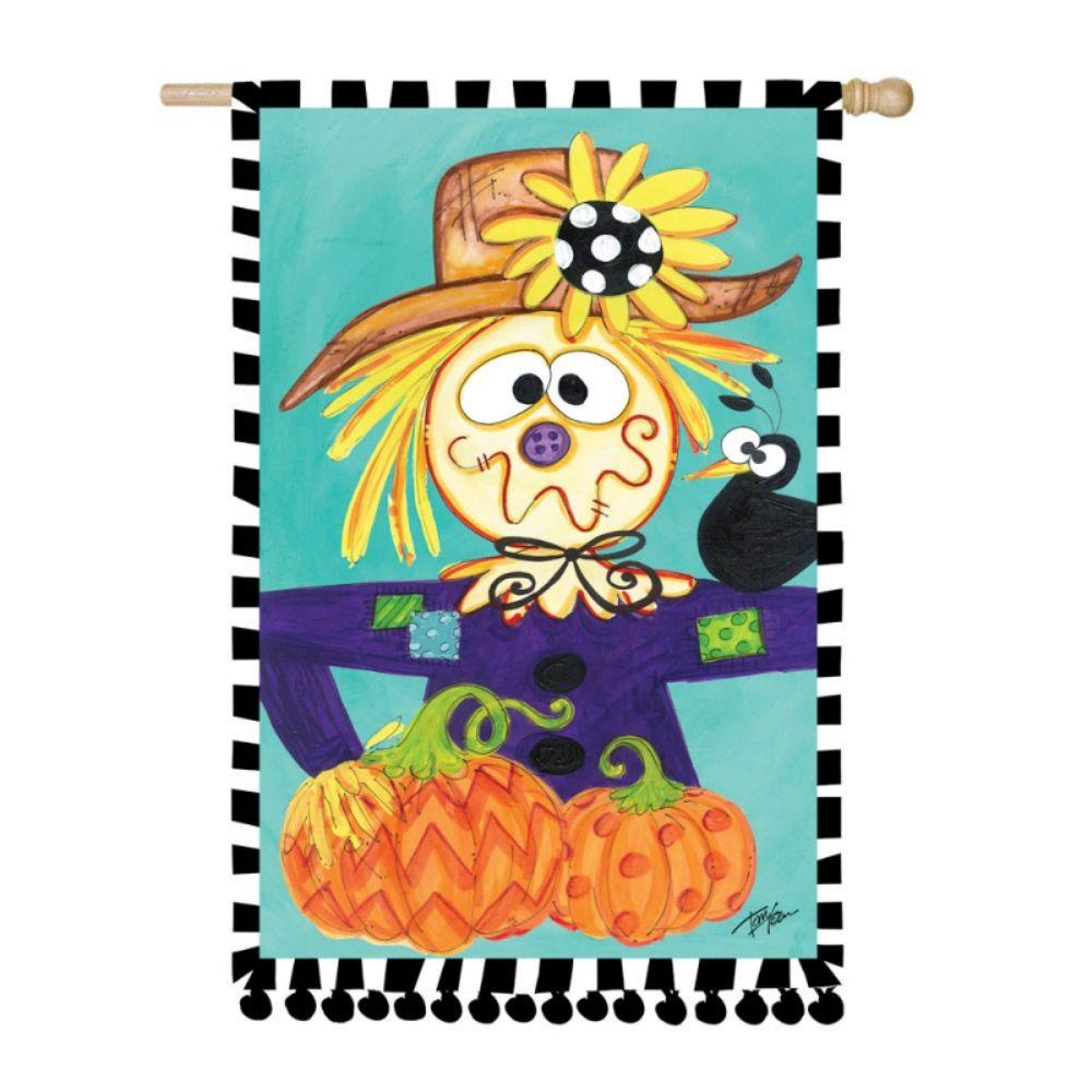 Evergreen 2 ft. x 3 ft. Regular Sub Suede TomTom Scarecrow Flag