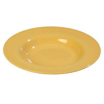20 oz., 12.02 in. Diameter Melamine Chef Salad/Pasta/Soup Bowl in Honey Yellow (Case of 12))