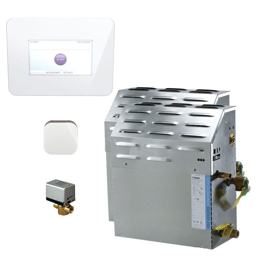 Mr. Steam 30kW Steam Bath Generator with iSteam 2.0 AutoFlush Package in White