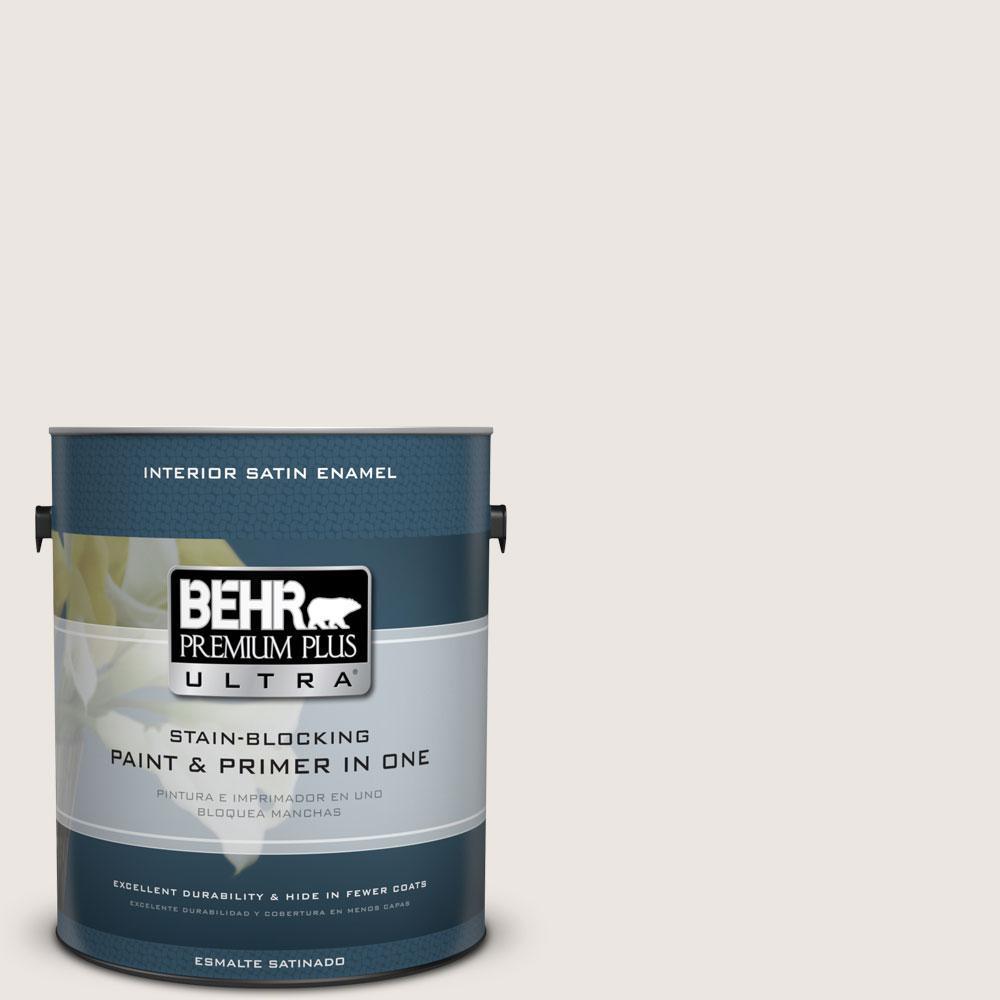 BEHR Premium Plus Ultra 1 gal. #N330-1 Milk Paint Satin Enamel Interior Paint and Primer in One