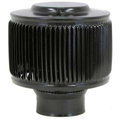 3 in. Dia Aura PVC Vent Cap Exhaust with Adapter for Schedule 40 or Schedule 80 PVC Pipe in Black