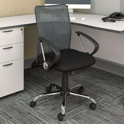 Workspace Office Chair with Contoured Dark Grey Mesh Back