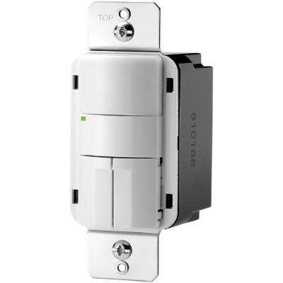 800-Watt Single Pole Infrared Occupancy Sensor, White