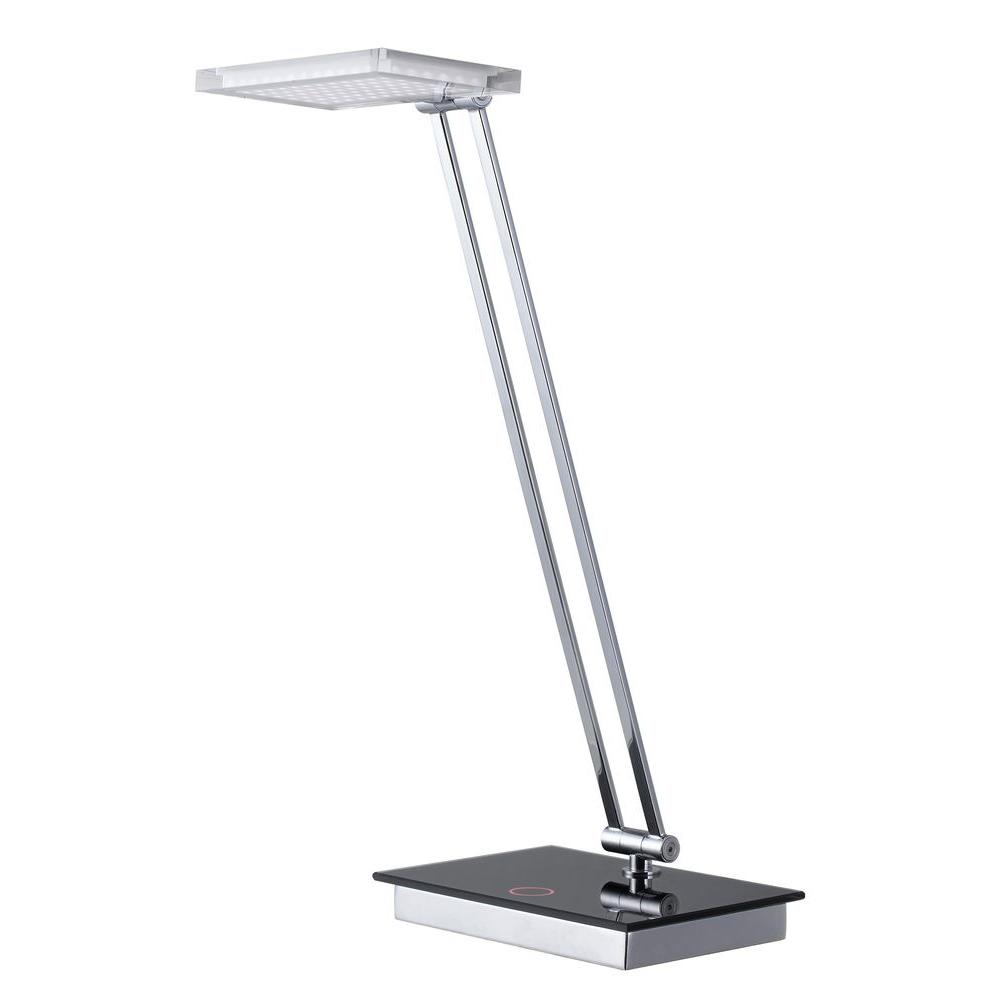 CAL Lighting 19 in. Chrome Desk Lamp with LED Dimmer-BO-2232DK ...
