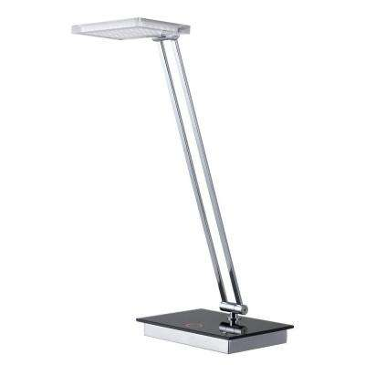 19 in. Chrome Desk Lamp with LED Dimmer