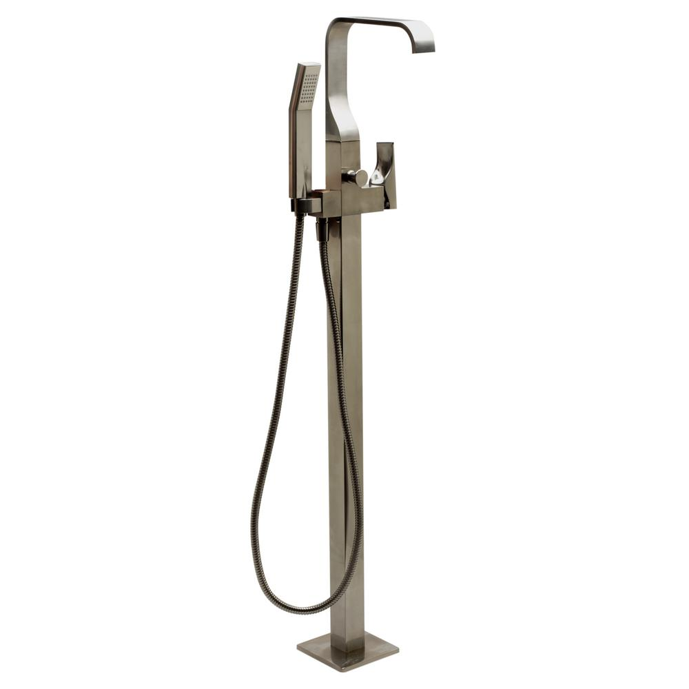 Single-Handle Claw Foot Tub Faucet in Brushed Nickel with Sleek Modern