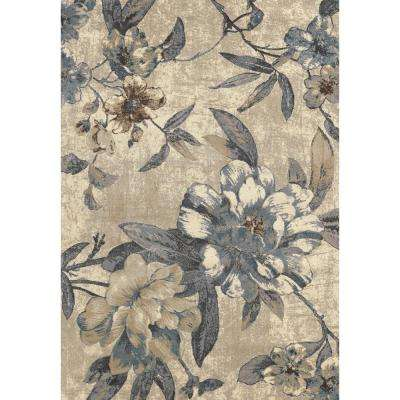 Lumina Roses Ivory 7 ft. x 9 ft. Area Rug