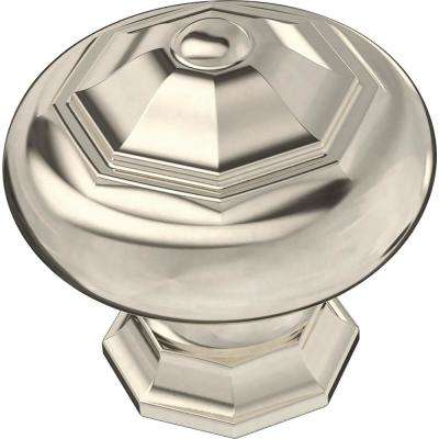 Finial 1-1/4 in. (32mm) Polished Nickel Round Cabinet Knob