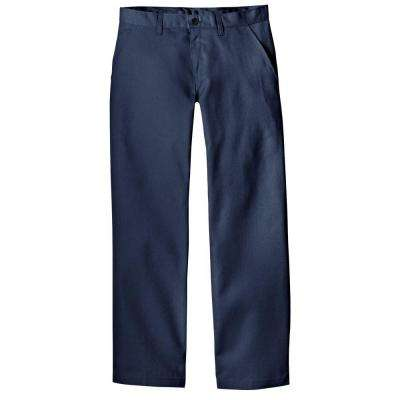 Relaxed Straight Fit 30 in. x 32 in. Polyester Pant Dark Navy