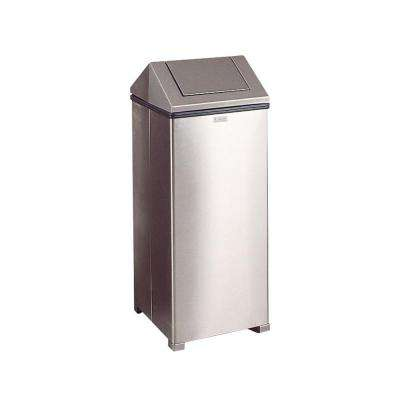 24 gal stainless steel hinged top trash can