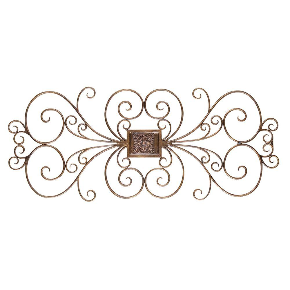 Yosemite Home Decor 39.4 in. x 17.3 in. Iron Decor Accent Wall Hanging-DISCONTINUED