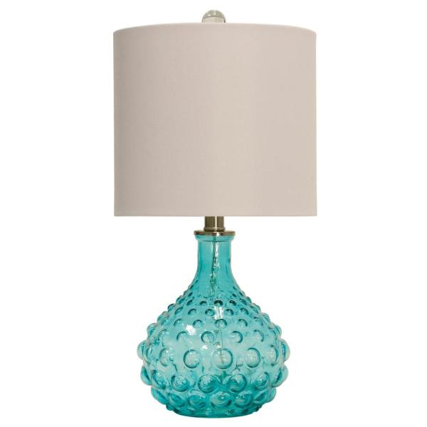 Stylecraft 20 In Blue Table Lamp With, Home Depot Table Lamps For Bedroom