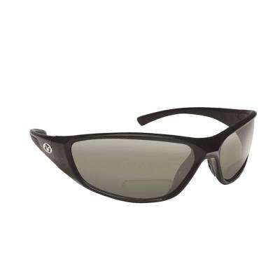 Falcon Polarized Sunglasses Black Frame with Smoke Lens Bifocal Reader 200