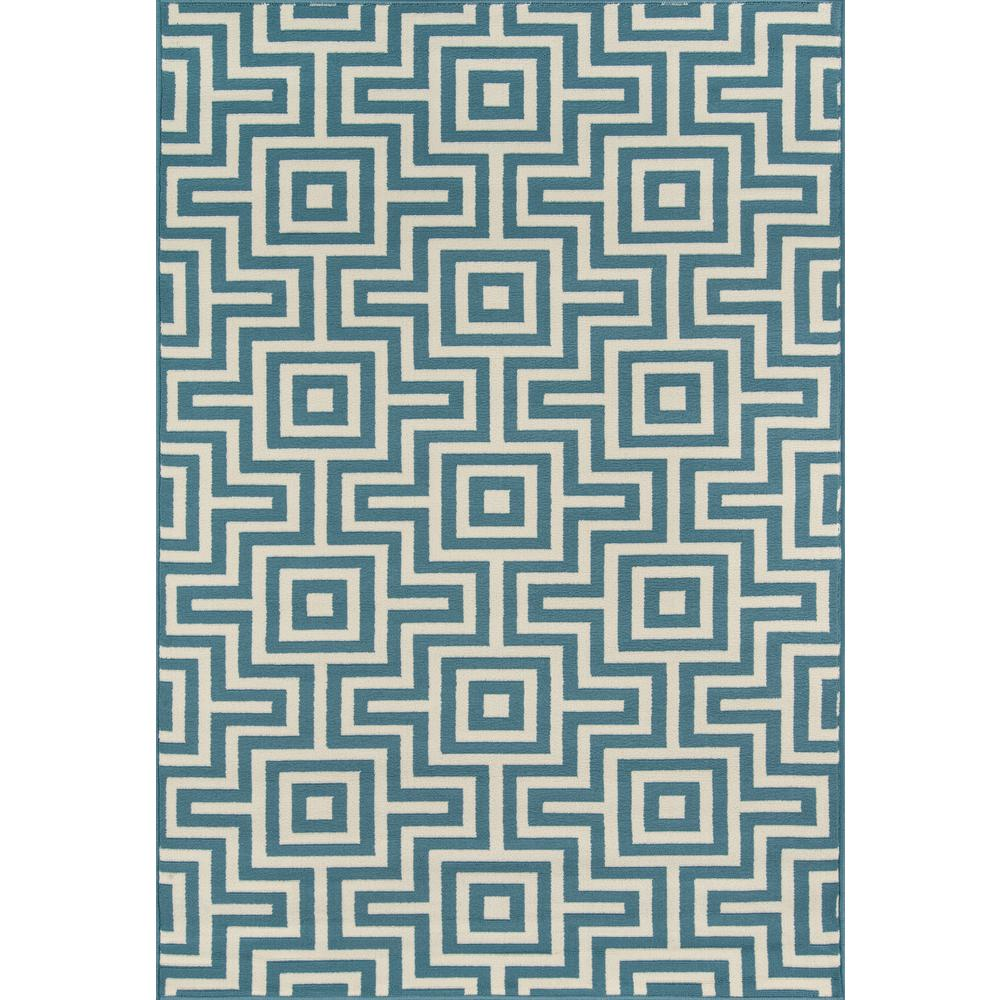 Momeni Baja Blue 1 ft. 8 in. x 3 ft. 7 in. Indoor/Outdoor Area Rug