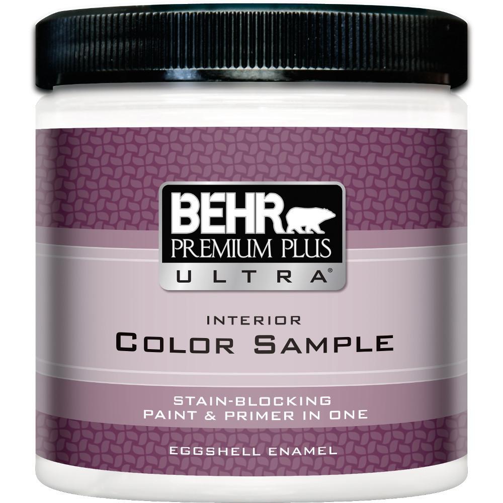 Behr premium plus ultra 8 oz deep base eggshell enamel interior paint and primer in one sample for Best interior paint and primer in one