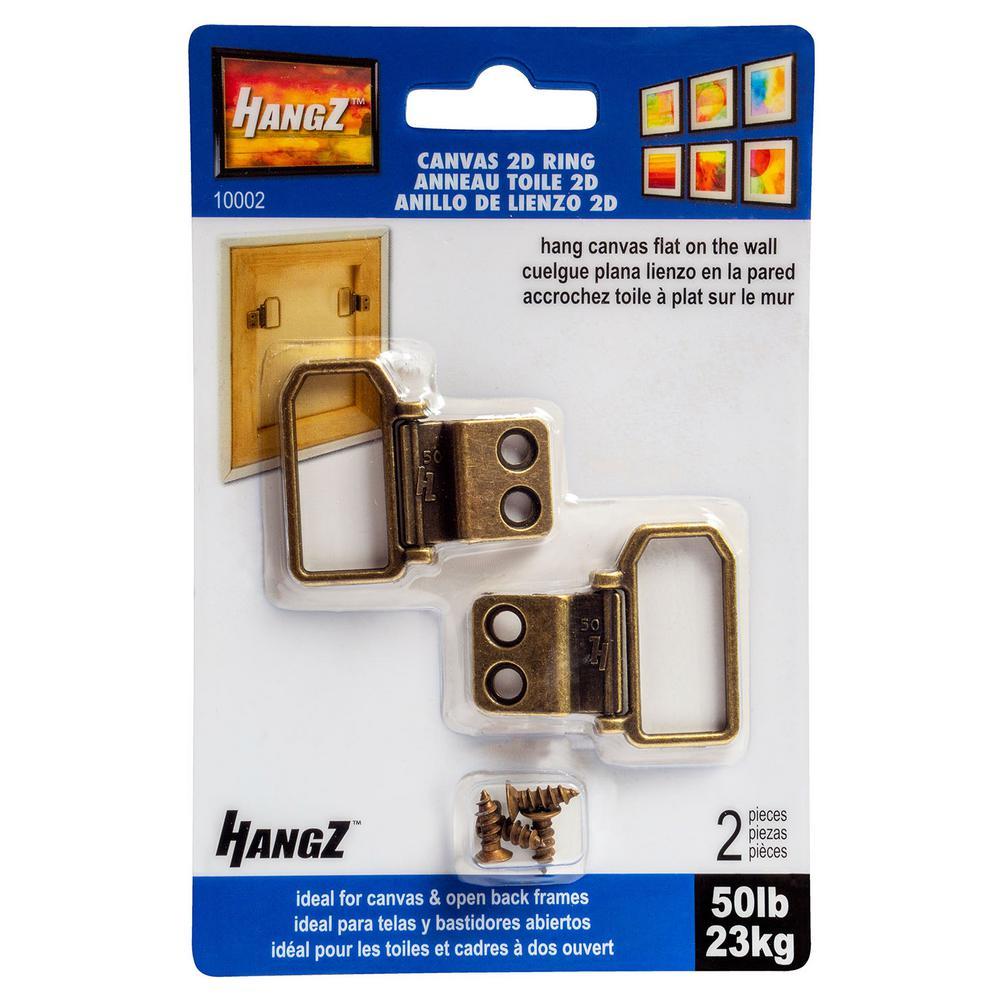 50 lb. Canvas 2-Hole D Ring Hanger (2-Pack)