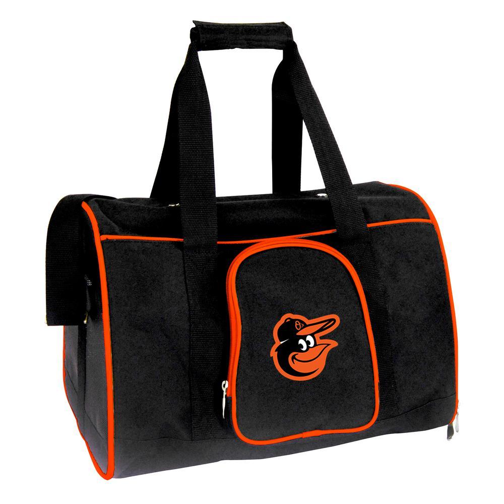 MLB Baltimore Orioles Pet Carrier Premium 16 in. Bag in Orange