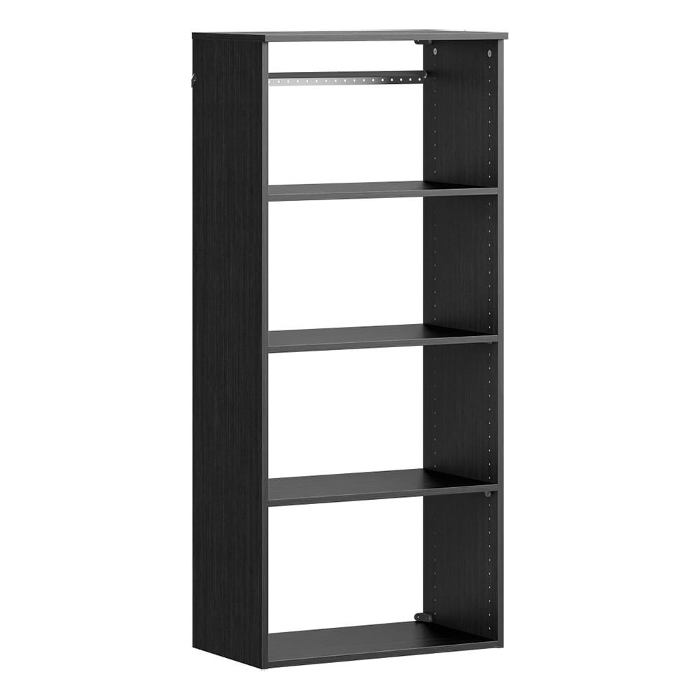 ClosetMaid ClosetMaid Style+ 14.59 in. D x 25.12 in. W x 56.48 in. H Noir Wood Closet System Hanging Tower