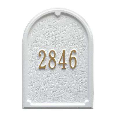 Mailbox Door Panel in White/Gold