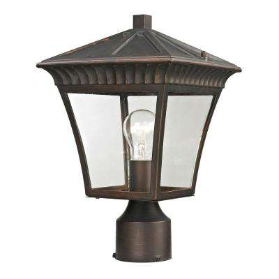 Ridgewood 1-Light Outdoor Hazelnut Bronze Post Lantern