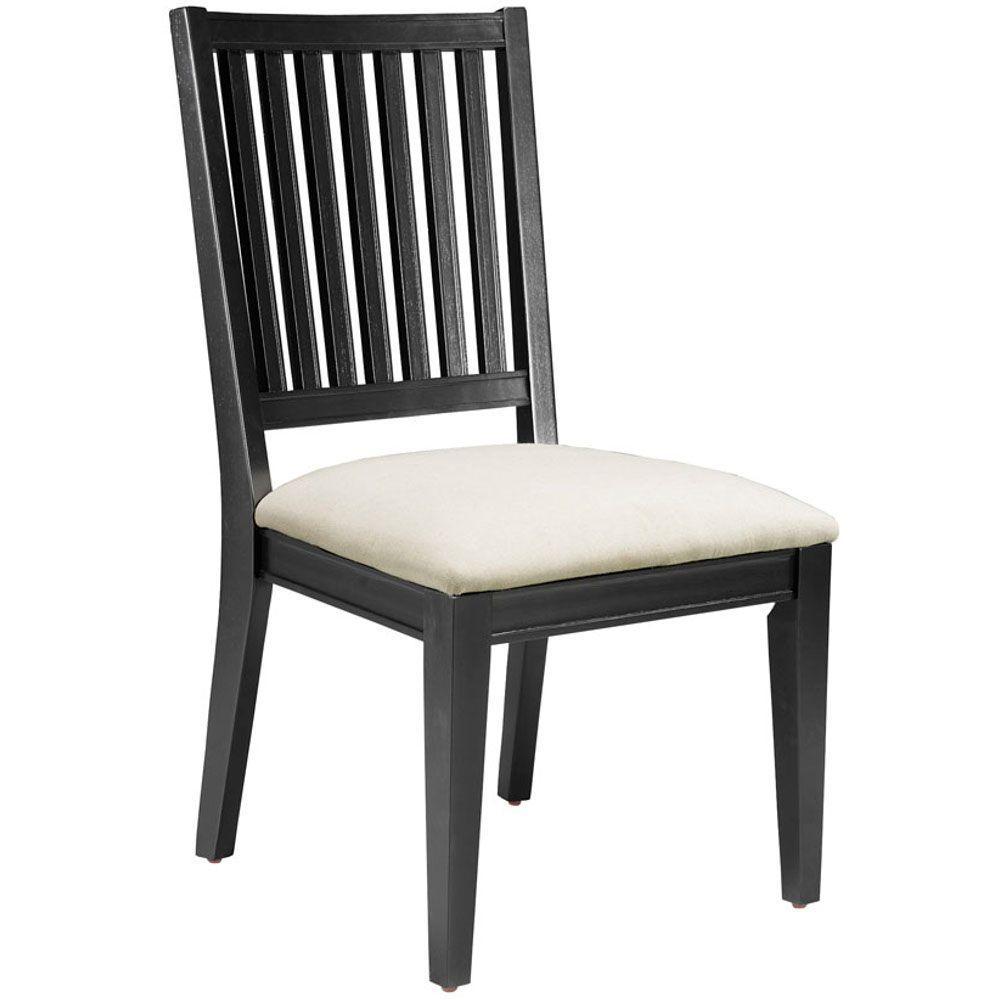 Martha Stewart Living Larsson Carbon Black Dining Side Chair