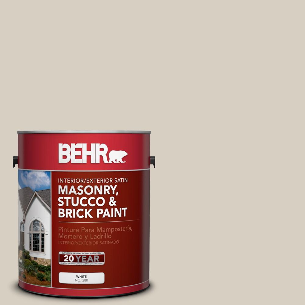 1 gal. #PPU7-9 Aged Beige Satin Interior/Exterior Masonry, Stucco and Brick