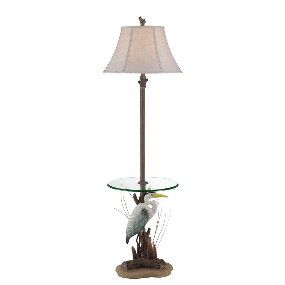 63 in. Brown Indoor Floor Lamp