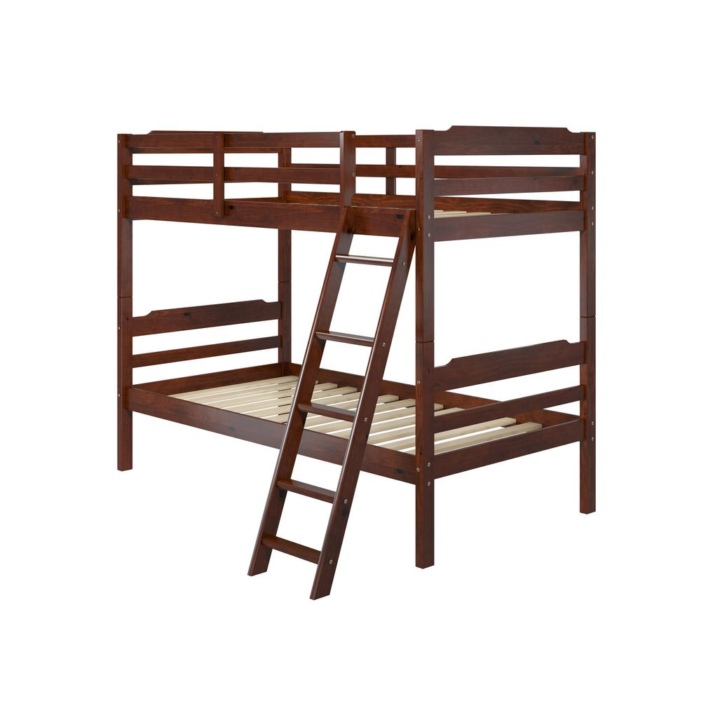 Manhattan comfort hayden twin over twin wood bunk bed a354 for Loft kits home depot