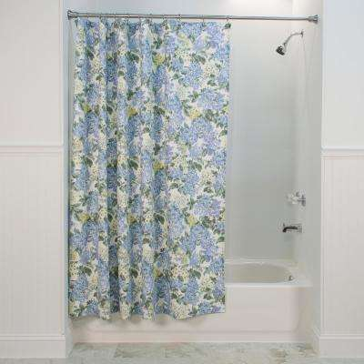 Hydrangea 72 in. Blue Shower Curtain